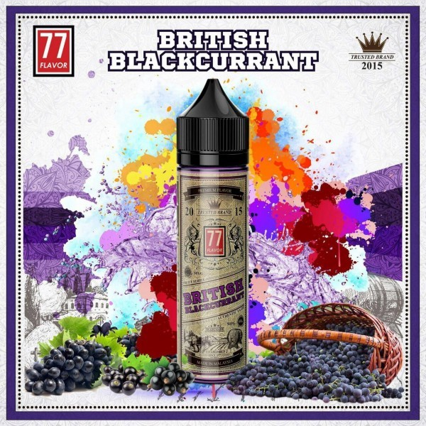 77 Flavor British Blackcurrant 50ml PLUS