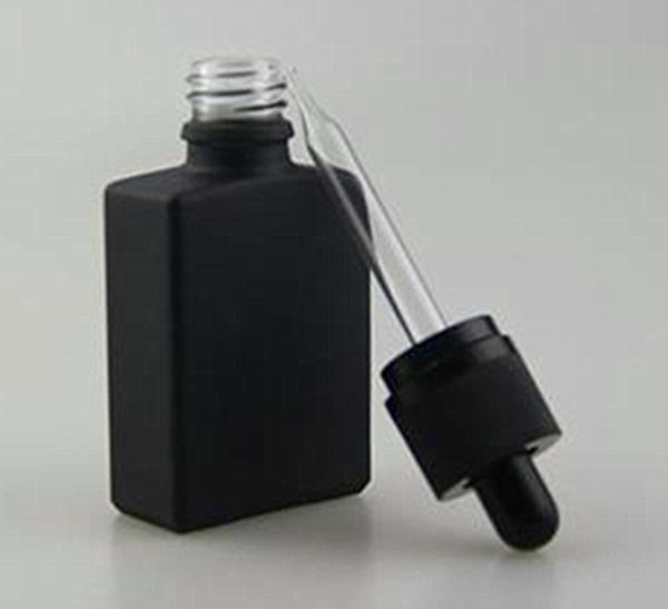 Glasflaschen Rechteck mit Pipette
