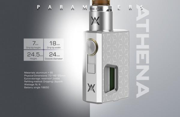 Geekvape Athena Squonk Mech Set Silber