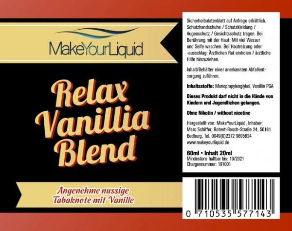 Make Your Liquid - Relax Vanilla Blend Longfill