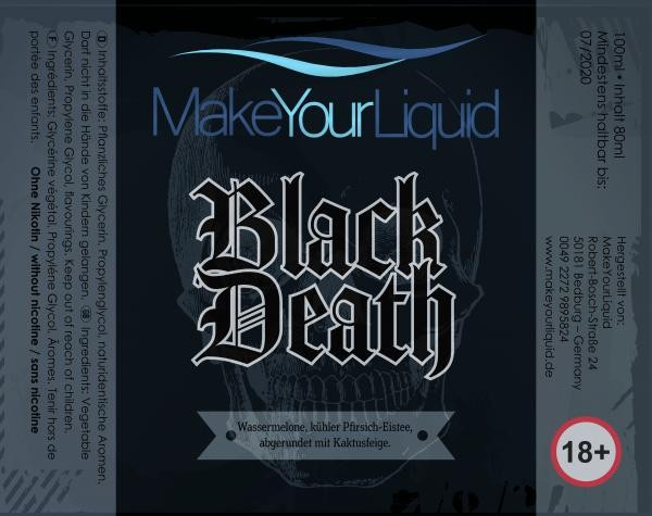 Make Your Liquid Black Death Shake´n´Vape 80ml/100ml