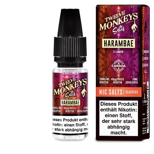 Twelve Monkeys Salts - Harambae 10ml, 20mg Nic Salt