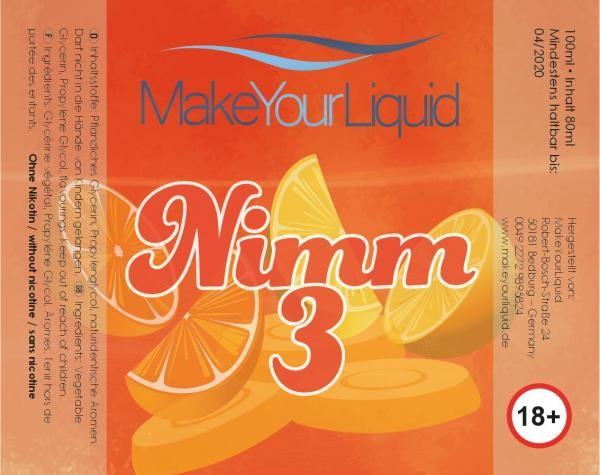 Make Your Liquid Nimm 3 Shake´n´Vape 80ml/100ml