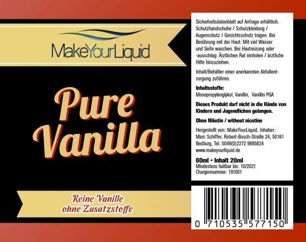 Make Your Liquid - Pure Vanilla Longfill