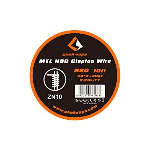 Geekvape - Wickeldraht MTL N80 Clapton Draht