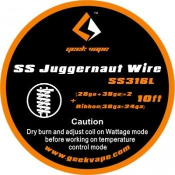 GeekVape - Wickeldraht SS Juggernaut auf Rolle