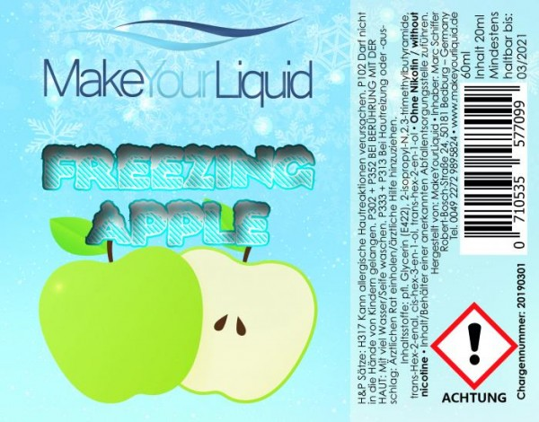 Make Your Liquid - Freezing Apple Longfill