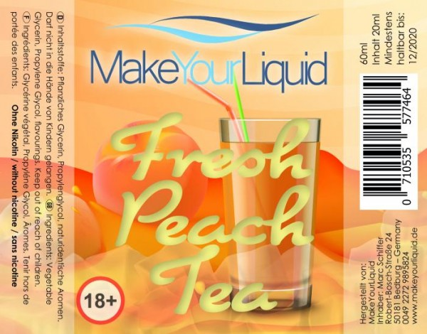 Make Your Liquid - Fresh Peach Tea Longfill