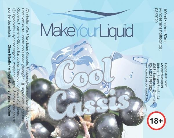 Make Your Liquid Cool Cassis Shake´n´Vape 80ml/100ml