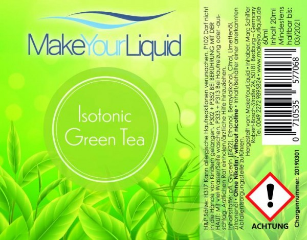 Make Your Liquid - Isotonic Green Tea Longfill