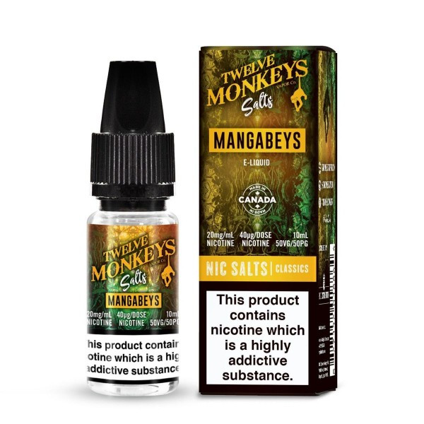 Twelve Monkeys Salts - Mangabeys 10ml, 20mg Nic Salt