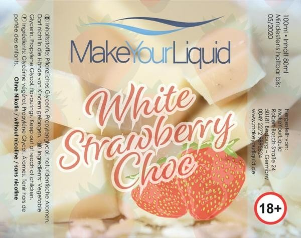 Make Your Liquid White Strawberry Choc Shake´n´Vape 80ml/100ml